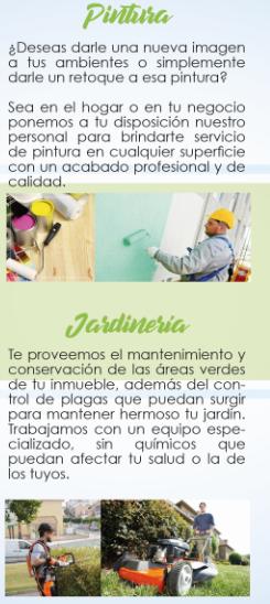 Servicios de pintura y jardinería