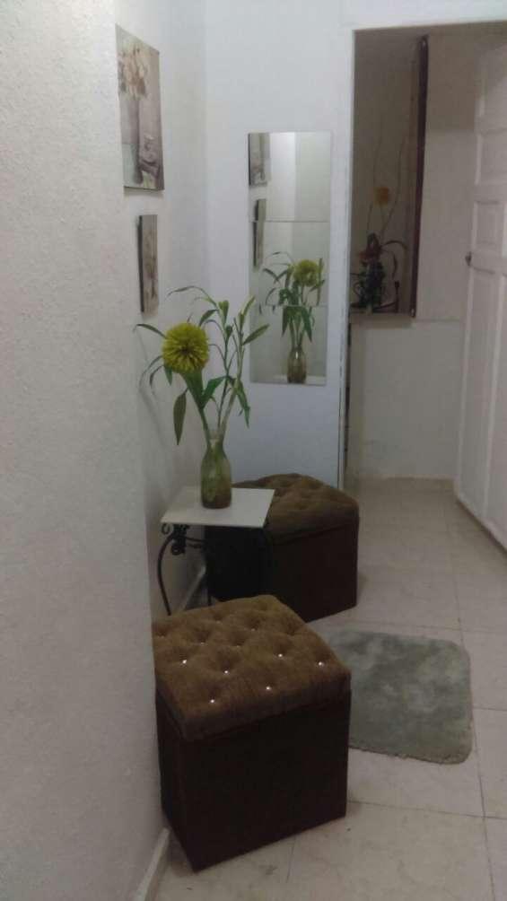 Alquiler apartamento de una habitacion amueblado, gazcue, terraza