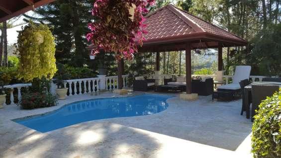 Villa amueblada en jarabacoa rmv-130 casa rústica en rabo de chivo, jarabacoa