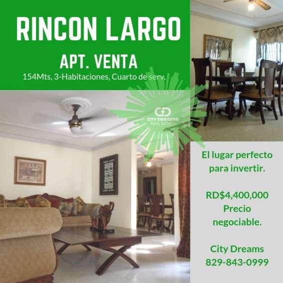 Villa olga, rincon largo santiago, apt. en venta, 154mts.