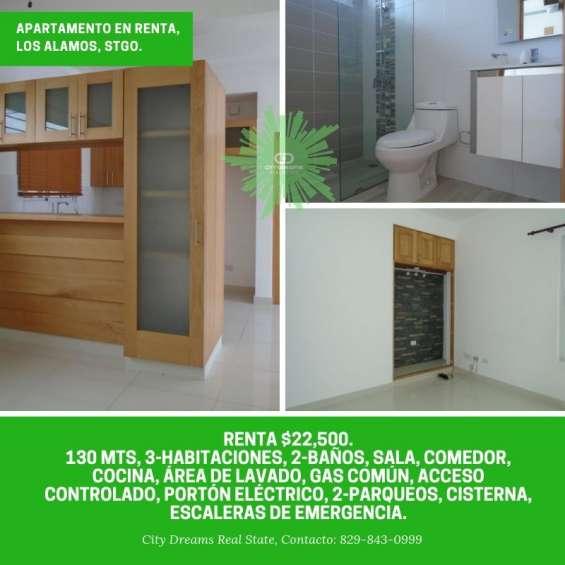 Rento apartamento en los almos, santiago, r.d