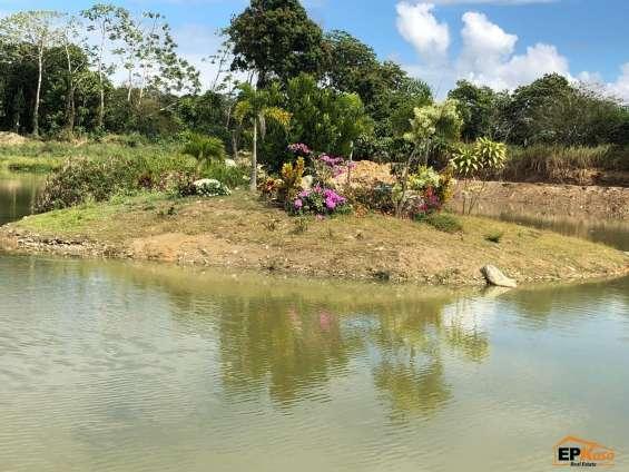 Terreno en prestigioso proyecto con lago en jarabacoa res-136d