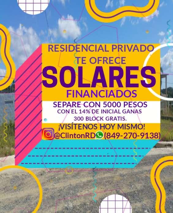 Solares en villa mella construye facil solares fiaho ahora con 300 block totalmente gratis