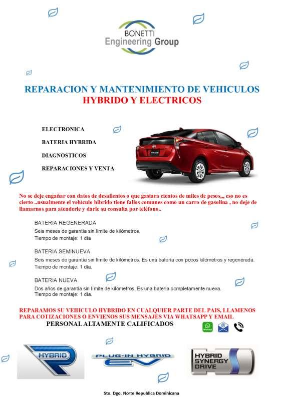 Reparacion y mantenimiento de vehiculos hybrido y electricos
