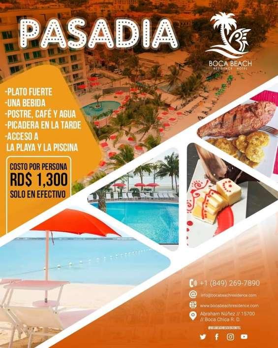Pasa día en boca beach residence-hotel