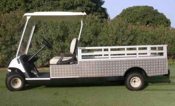 Carritos de golf utilitarios y de carga p/ hoteles, resorts y campos de golf