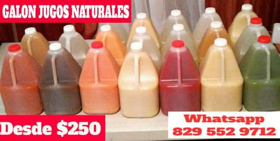 Jugos naturales por galon