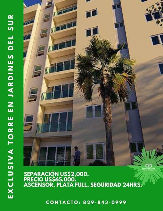 Exclusiva torre jardines del sur, separación us$2,000, santiago