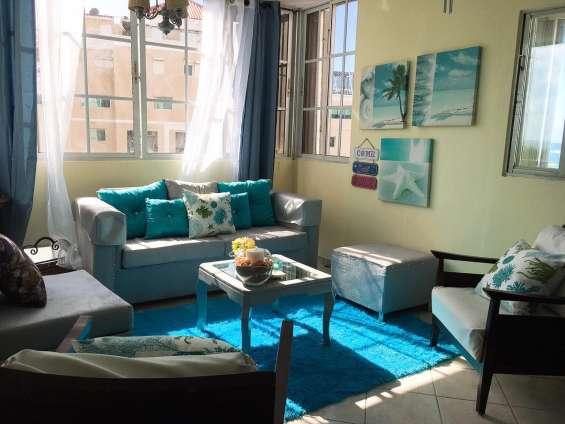 Apartamento de 3 hab. amueblado en el malecón de santo domingo