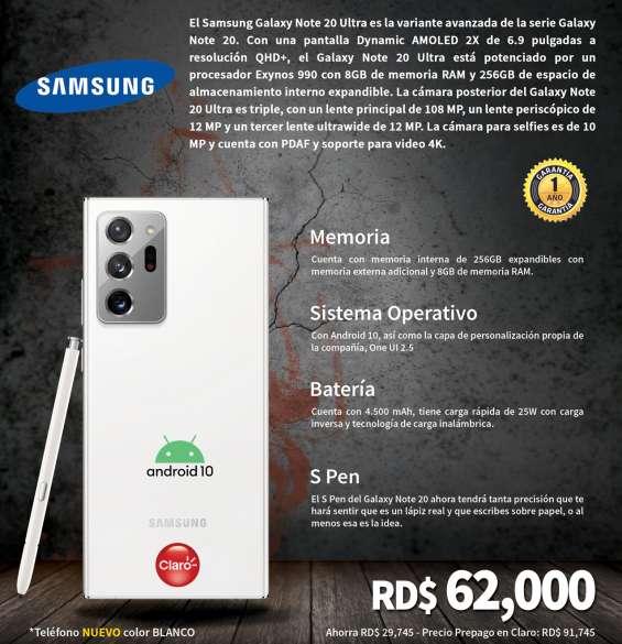 Teléfono celular samsung galaxy note 20 ultra (nuevo) comprado en claro