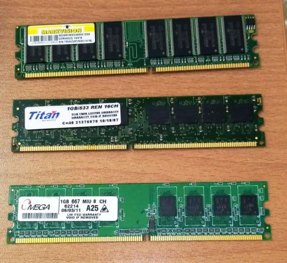 Juego de 2 discos duros hdd y memorias ram para computadores tipo desktop. discos maxtor 6